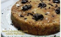 Receita de Cacau – Torta De Nozes Germinadas Com Pasta De Cacau Cru
