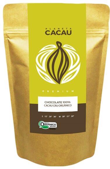 Chocolate Vegano 100% Cacau Premium Cru e Orgânico
