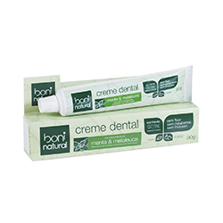 Pasta de Dente natural e sem flúor - Produzido pela empresa Boni Natural