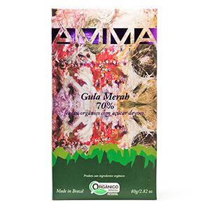Chocolate Orgânico 70% Com Açúcar De Coco - Gula Merah 80g - Amma