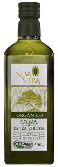Comprar Azeite de Oliva Extra Virgem Orgânico 500ml - Acidez 0,2% - NOVA OLIVA
