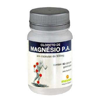 Cloreto de Magnésio 500mg 60 Cápsulas - MEISSEN