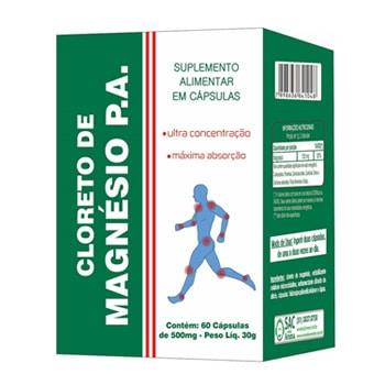 Cloreto de Magnésio P.A. 500mg 60 Cápsulas - Aroma