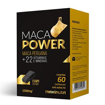 Maca Peruana - Maca Power + 22 Vitaminas e Minerais 60 cápsulas 1200mg - Maxinutri