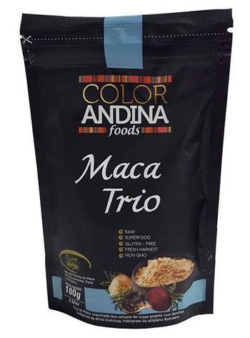 Maca Peruana Trio - Preta, Vermelha e Amarela