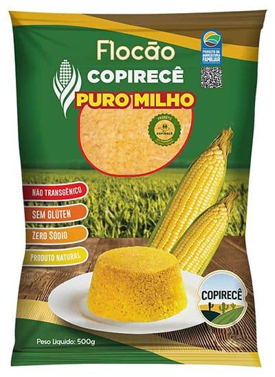 Flocos de Milho Para Cuscuz Sem Glúten Não Transgênico 500g - Copirecê
