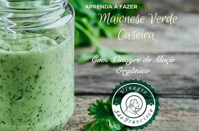 Receita Maionese Verde Caseira com Vinagre de Maçã Orgânico